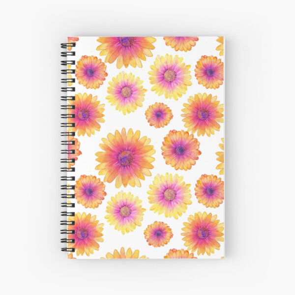 African Daisy Watercolour Spiral Notebook