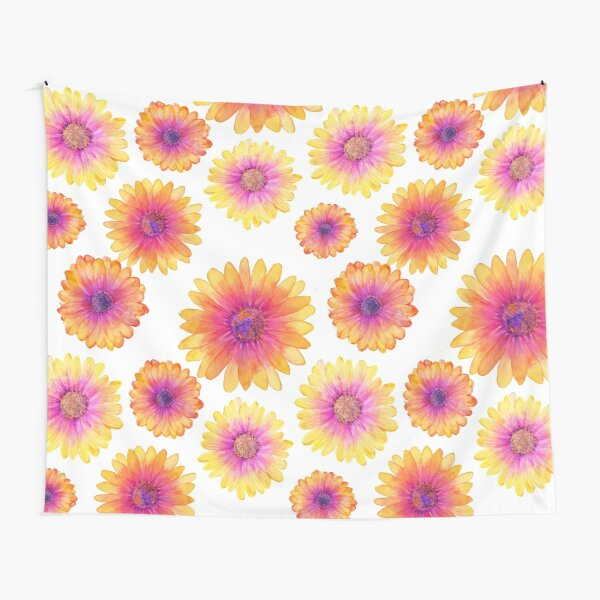African Daisy Watercolour Tapestry