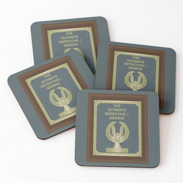 THE ULTIMATE DETECTIVE/GENIUS HEIST AWARD Coasters (Set of 4)