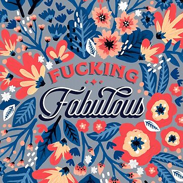 F*cking Fabulous – Denim & Coral Palette by catcoq