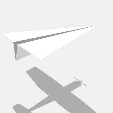 Papierflieger. von LAZYJSTUDIOS
