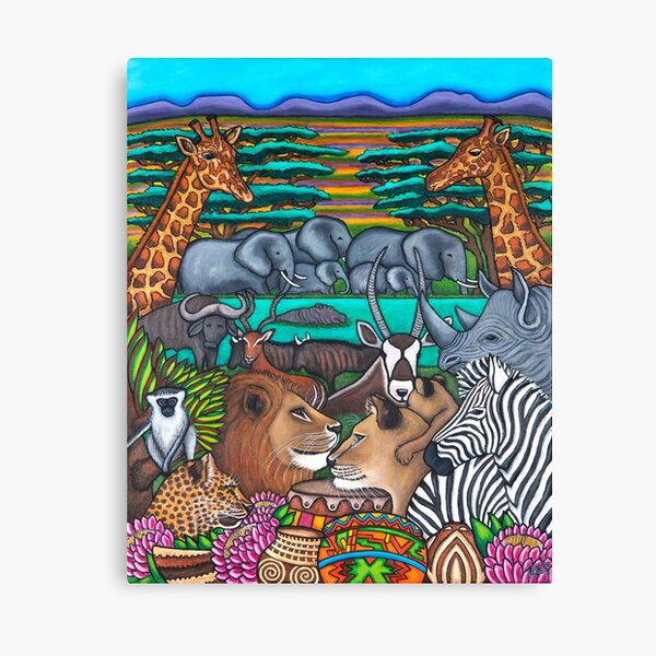 Colours of Africa Canvas Print