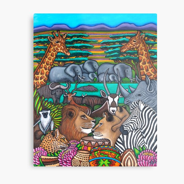 Colours of Africa Metal Print
