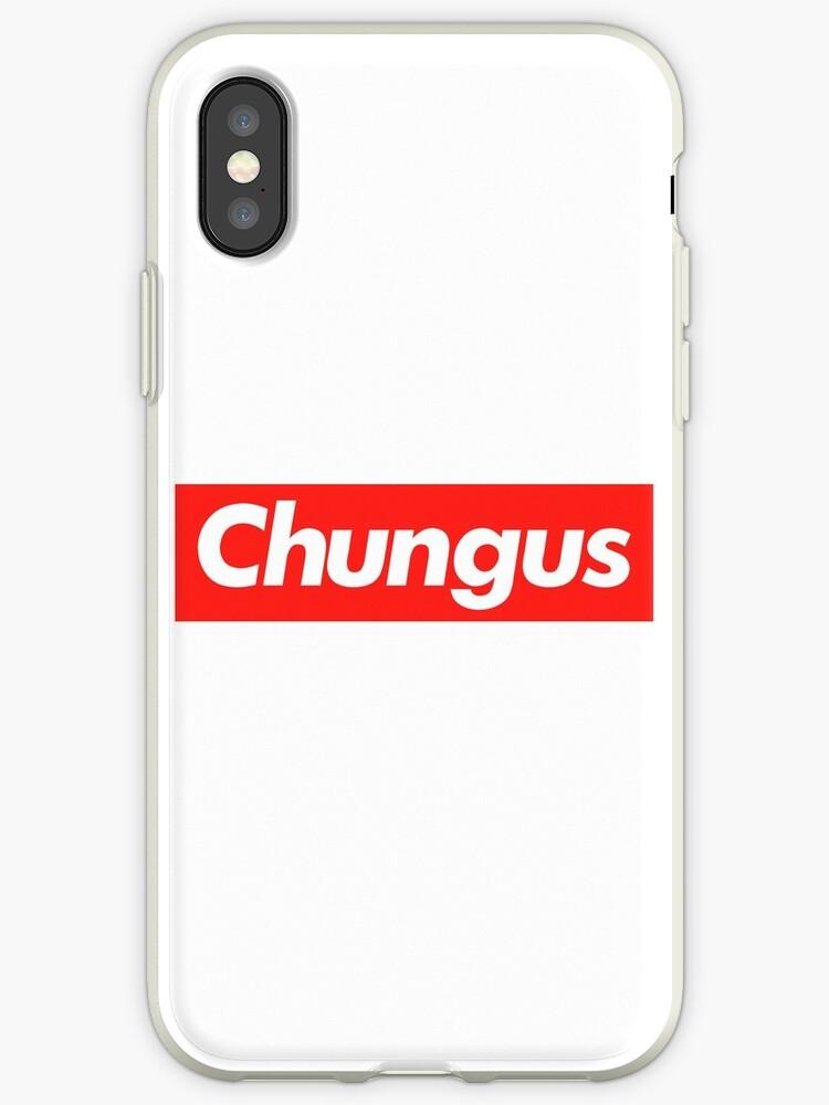 Big Chungus Rabbit Supreme Embleme Meme Text Art Iphone Cases