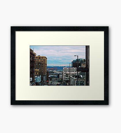 Downtown Tacoma Framed Print