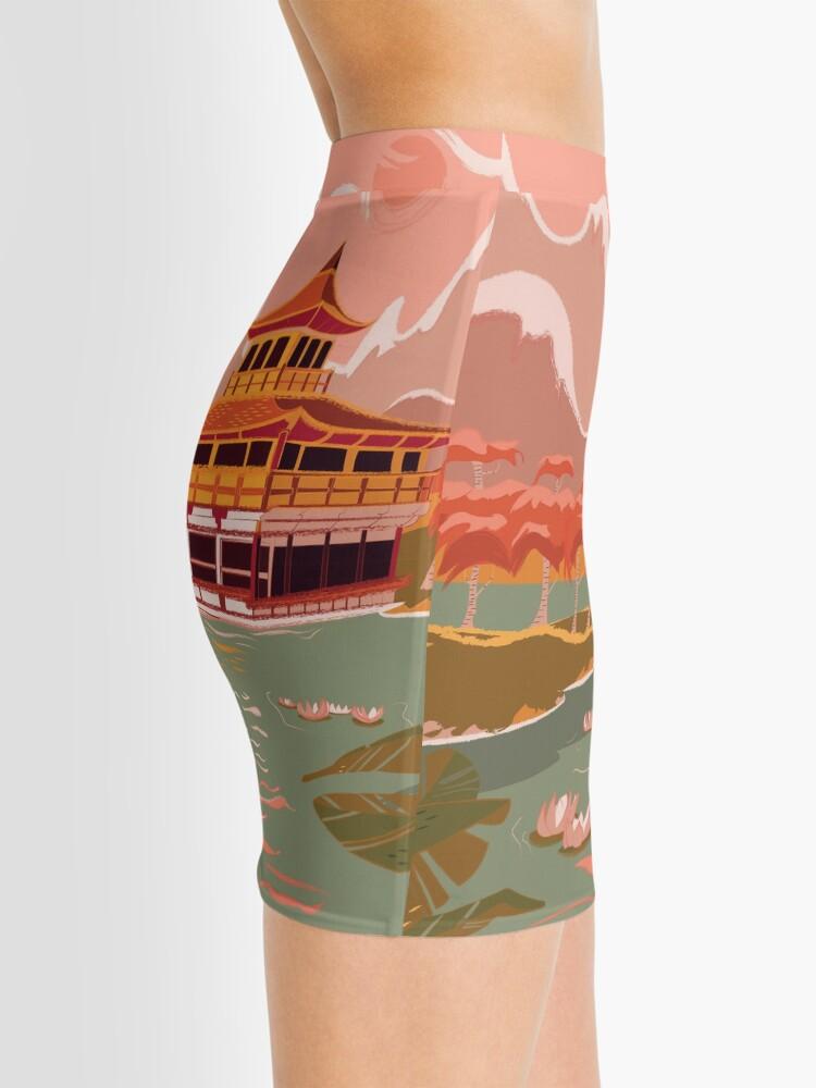 Alternate view of Kyoto Golden Pagoda  Mini Skirt
