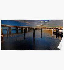 Sunset on Forster Bridge Poster