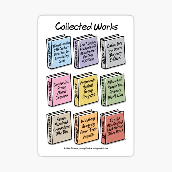 Collected Works Sticker