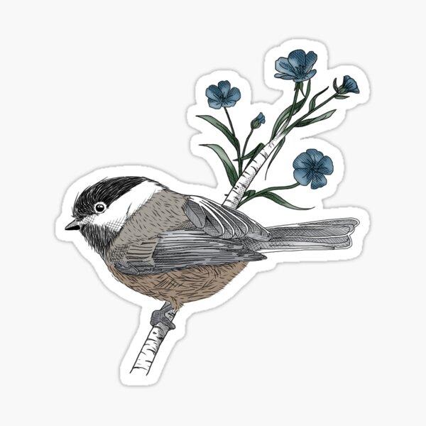Chickadee + Flax Sticker