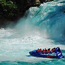Jet boat at Huka Falls by bazcelt