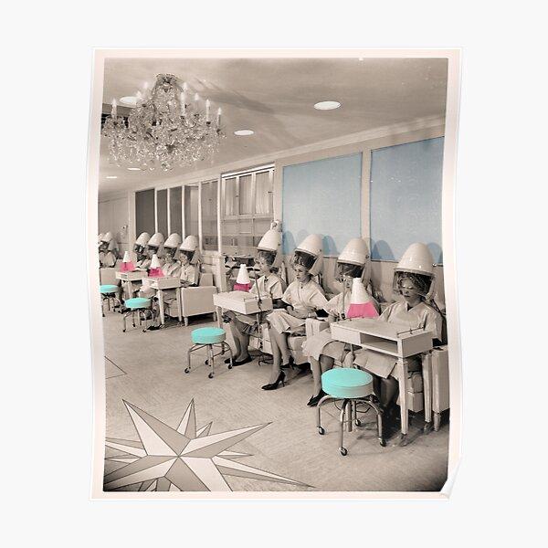 Vintage Hair Salon Ladies Poster