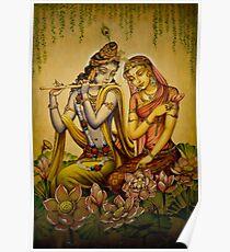The nectar of Krishnas flute Poster