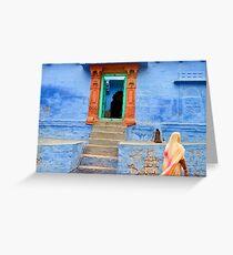 House. Jodhpur Greeting Card