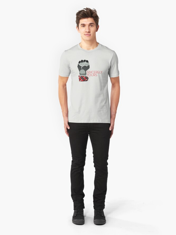 Alternate view of Sincerely Yours, The Breakfast Club Slim Fit T-Shirt