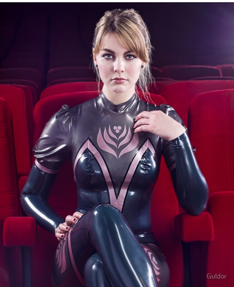 Catsuit girl latex NECK ENTRY