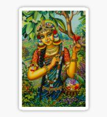 Radha at Govardhan hill Sticker