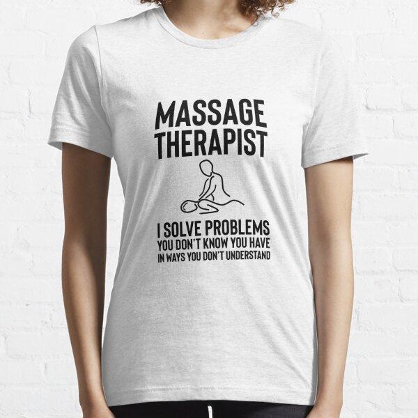 Cadeau spa massage spa bien-être pierre chaude T-shirt essentiel