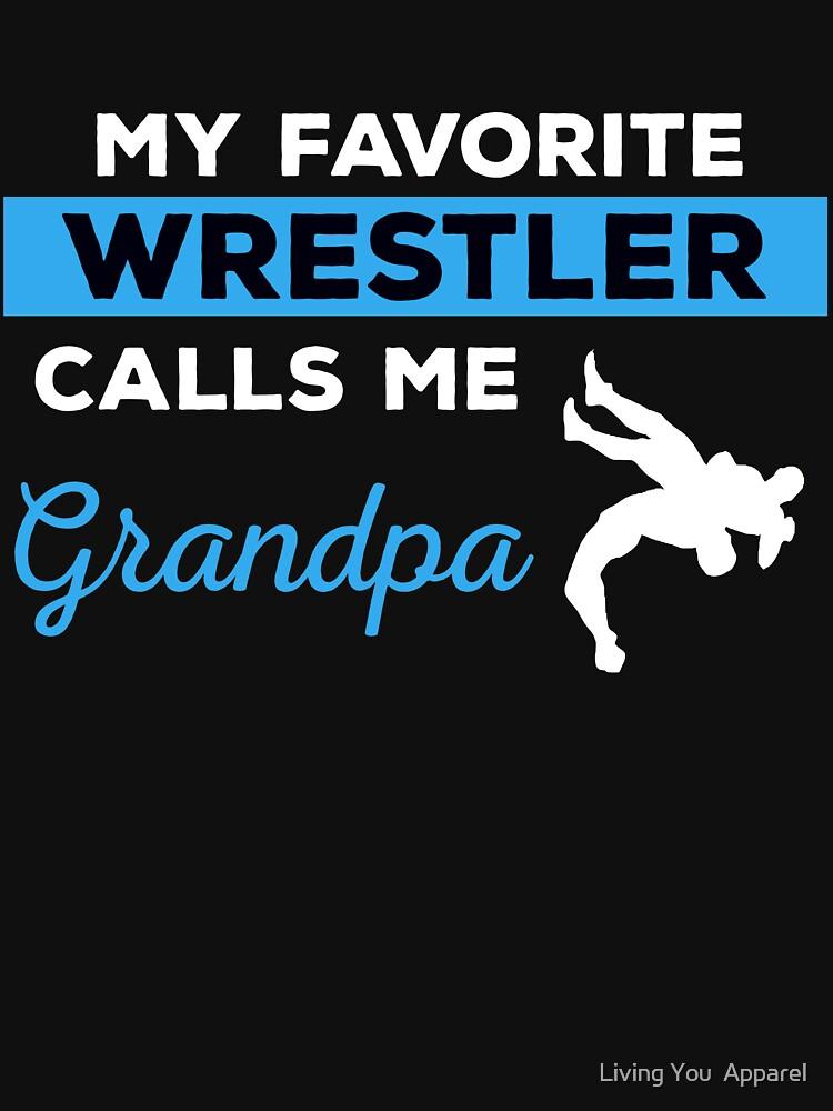Funny Wrestling Grandpa Tshirt Gift by mikevdv2001