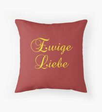 German Saying Ewige Liebe Floor Pillow