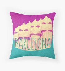 Barcelona Gaudi Casa Mila Throw Pillow