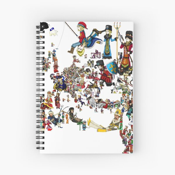 EUROPA UNIVERSALIS - National Personifications Map - 1444 Spiral Notebook