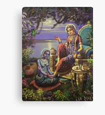 Krishna disguised as gopi Canvas Print