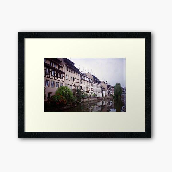 lovely waterways, Colmar, Alsace Impression encadrée
