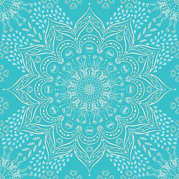 Teal mandala by Eng-Sun
