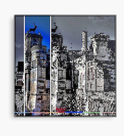 «Anet Castle | Anet Castle »- DDD B ^ ck [pixel-art] by RootCat (square) Metal Print