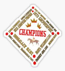 Horse Racing Triple Crown Winners Sticker
