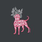 Pit Bull Flower Power (pink) by SophieGamand