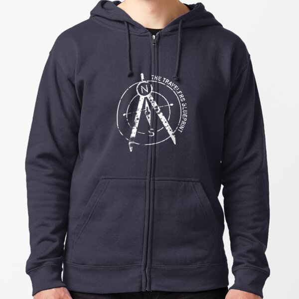 The Travelers Blueprint Podcast Zipped Hoodie