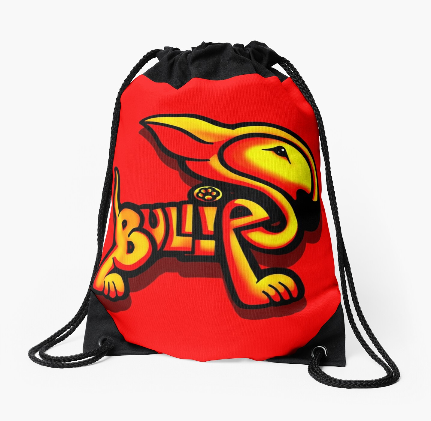 Bullies Letter Character Red and Yellow  by Sookiesooker
