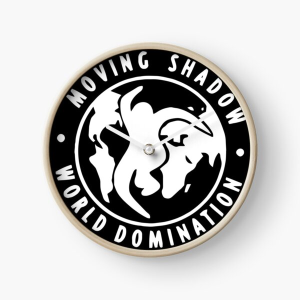 Moving Shadow World Domination Logo Clock