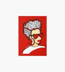 Strawberry Lady- Red Art Board Print
