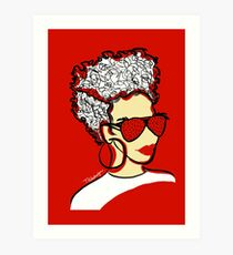 Strawberry Lady- Red Art Print