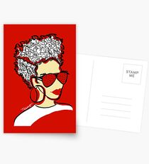 Strawberry Lady- Red Postcards
