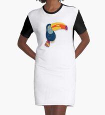 Toucan Bird Graphic T-Shirt Dress