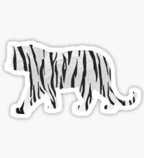 Pegatina Tiger Blanco y negro Print