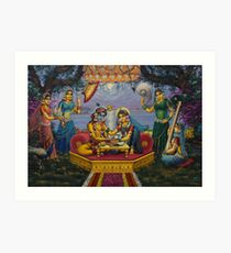 Radha Krishna. Bhojan lila Art Print