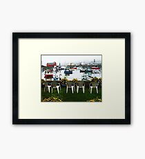Rockport Chairs Framed Print