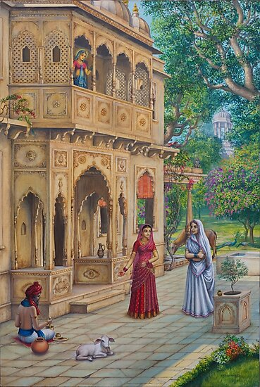 Purnamasi at Kirtidas house by Vrindavan Das