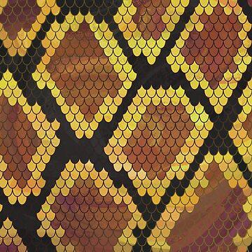 Serpiente Marrón y Dorado de ImagineThatNYC