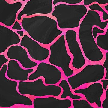 Giraffe Hot Pink and Black Print de ImagineThatNYC