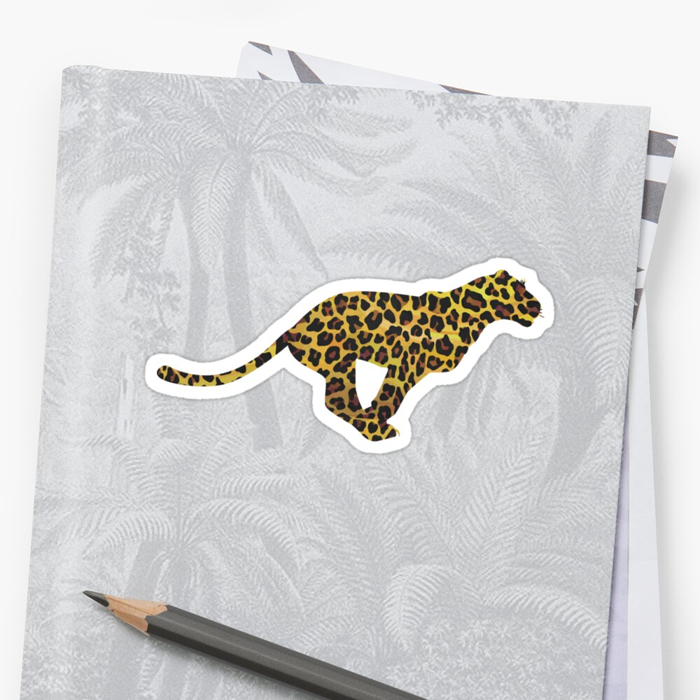 Leopard Brown and Yellow Print Pegatina