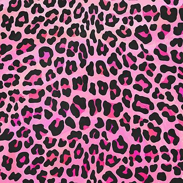 Leopard Black and Hot Pink Print de ImagineThatNYC