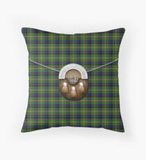 Clan Reid Tartan And Sporran Throw Pillow