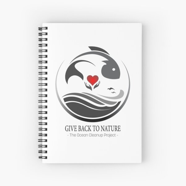 Give Back to Nature - The Ocean Clean Up Project Spiral Notebook