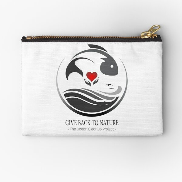 Give Back to Nature - The Ocean Clean Up Project Zipper Pouch