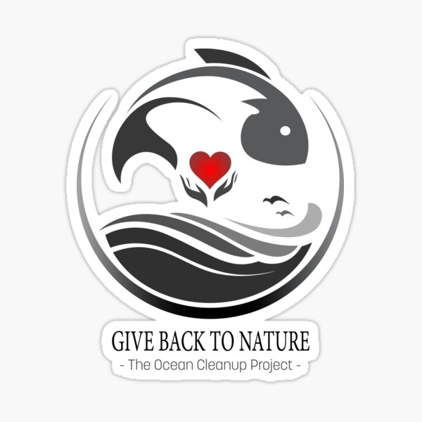 Give Back to Nature - The Ocean Clean Up Project Sticker